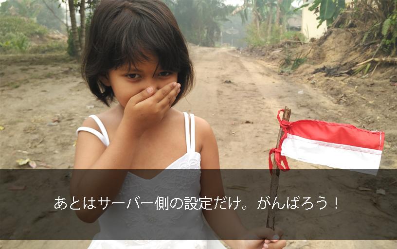 サーバー設定頑張っての少女応援イメージ画像