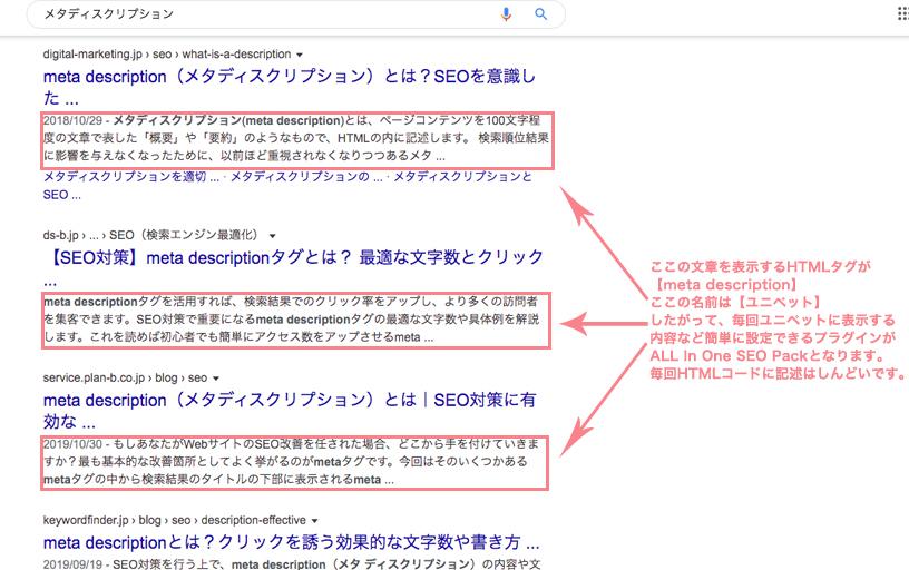 検索画面メタディスクリプション説明画像