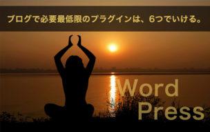 WordPressプラグイン最低数イメージ画像